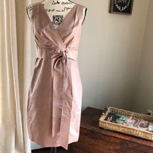Ann Taylor: Blush Pink Silk Dress sz8 EUC